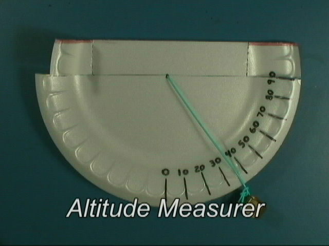 Paper Plate Astronomy Video - Altitude finder