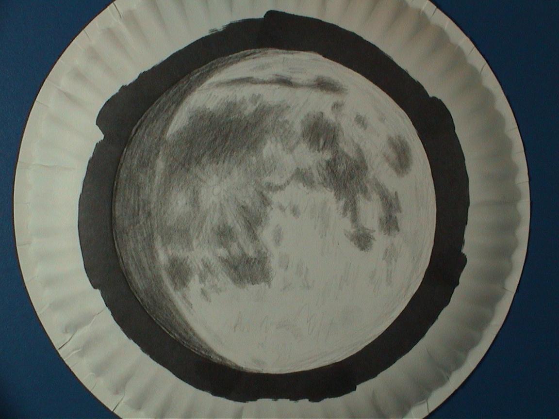 Moon Through Telescope As seen through telescope,
