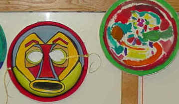 Paper Plate Education-African Masks